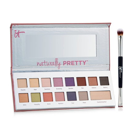 IT Cosmetics The Romantics Naturally Pretty Eyeshadow Palette & Brush