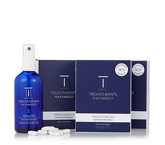 Philip Kingsley 3 x Tricho Complex with Pro Volumising Spray