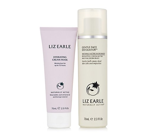 Liz Earle Gentle Face Exfoliator &  Hydrating Cream Mask Duo