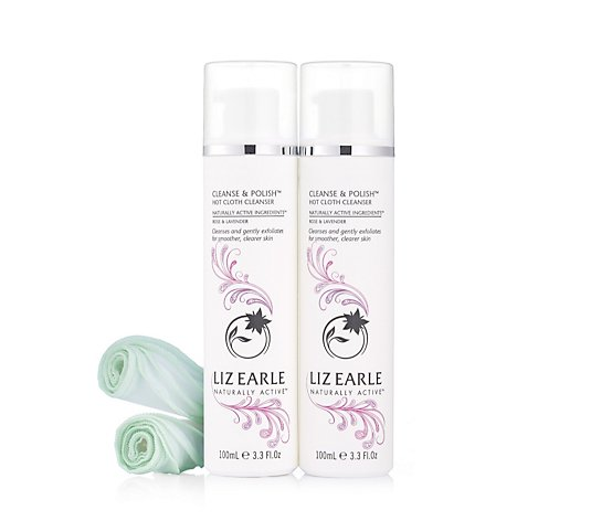 Liz Earle Rose & Lavender Cleanse & Polish 100ml Duo