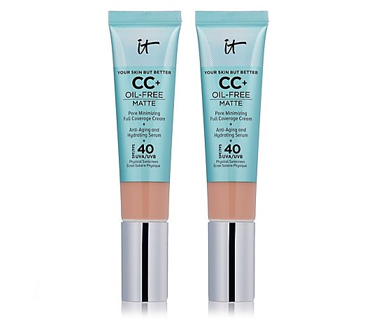 IT Cosmetics Full Coverage SPF 40 CC+ Oil-Free Matte Duo