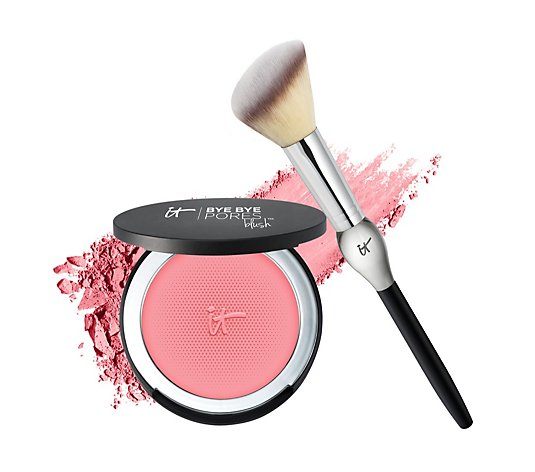 IT Cosmetics Bye Bye Pores Blush & French Boutique Brush