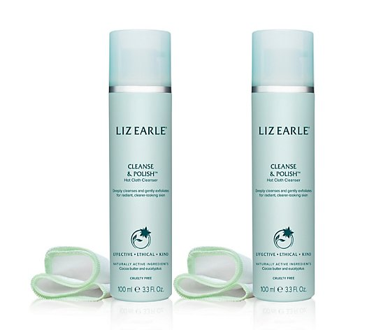 Liz Earle Cleanse & Polish Hot Cloth Cleanser 100ml Duo