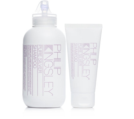 Philip Kingsley Pure Silver Shampoo Home & Away Duo