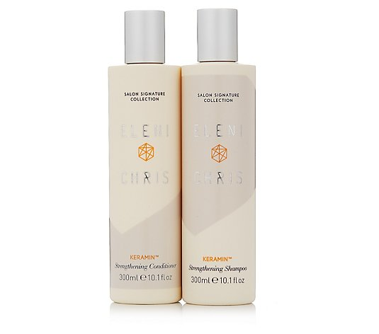 Eleni & Chris Keramin Strengthening Shampoo & Conditioner
