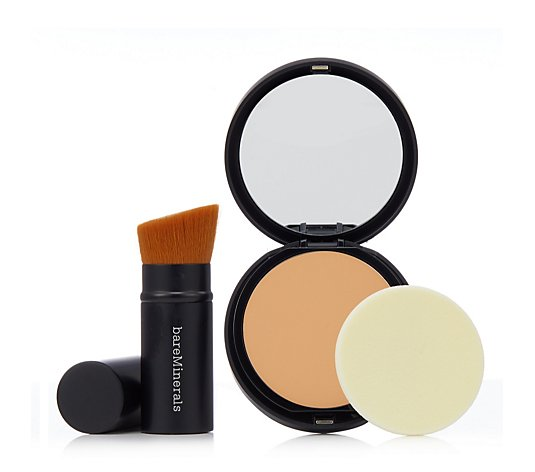 Bareminerals Barepro Pressed Powder Foundation & Brush