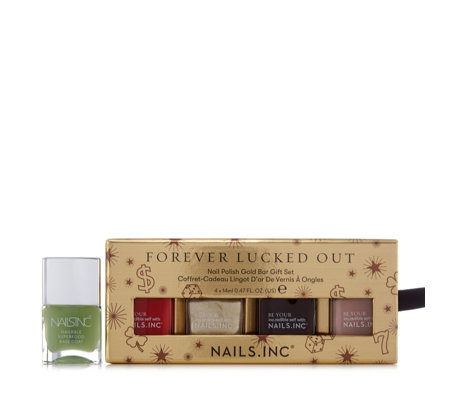 Nails Inc 5 Piece Forever Lucked Out Gift Set