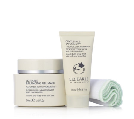 Liz Earle Balancing Gel Mask 50ml With Gentle Face Exfoliator 15ml