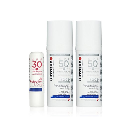 Ultrasun 3 Piece Anti-Pigmentation Face SPF 50+ & Lip Collection