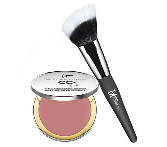 IT Cosmetics CC Creme Blush with Angled Radiance Creme Brush