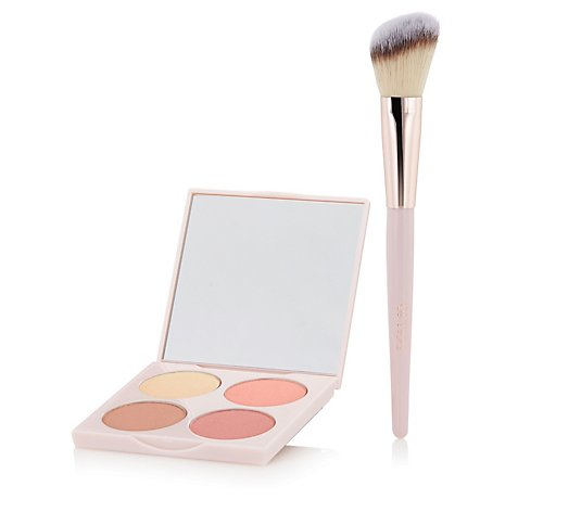 Doll 10 Doll Skin Genuis Colour Infusion Cheek Palette & Brush