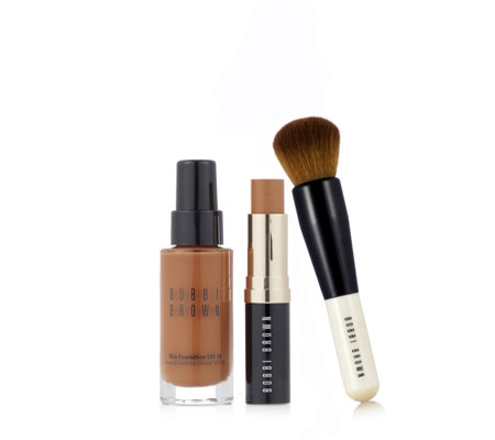 Bobbi Brown Skin Foundation Duo & Full Coverage Face Brush