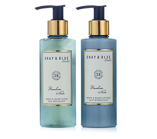 Shay & Blue Framboise Noire Body & Hand Wash & Lotion Duo 200ml