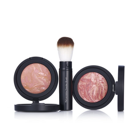 Laura Geller Blush-n-Brighten Baked Blush Duo 4.5g & Brush