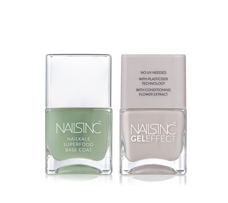 Nails Inc Alfred Place & Nailkale Superfood Base Coat
