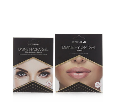 Beauty Boulevard 2 Piece Divine Hydra-Gel Eye Mask 20g & Lip Mask 6g