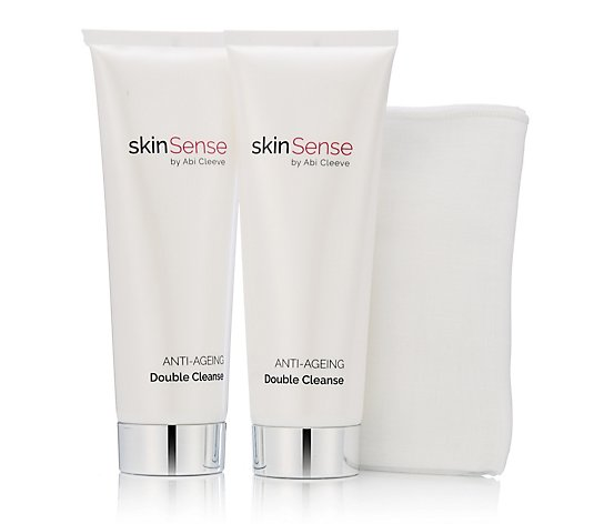 Skinsense Anti-Ageing Double Cleanse Duo with Cloth