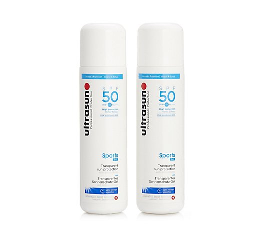 Ultrasun Sun Protection Sports Gel SPF 50 200ml Duo