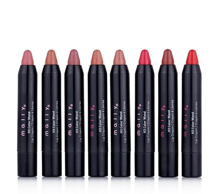 Mally 8 Piece H3 Colour Wand Lip Library