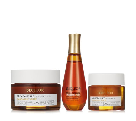 Decleor Green Mandarin Vitamin Glow Boosting Skincare 3 Piece Collection