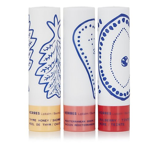 Korres Greek Kiss Balsam Lip Butter Trio