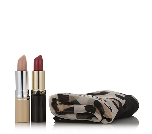 Gale Hayman Perfect Reds Lip Collection with Scarf