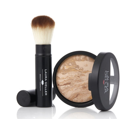 Laura Geller Balance-n-Brighten Baked Foundation 9g & Brush