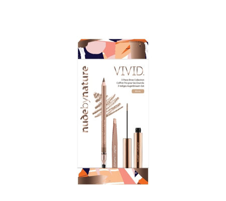 Nude by Nature Vivid 3 Piece Brow Collection