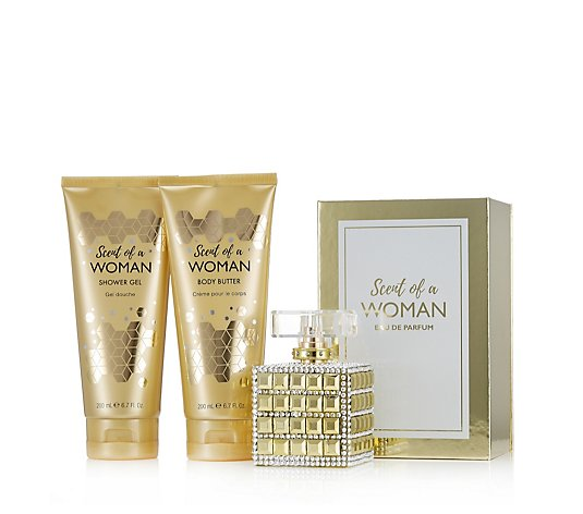 Prai Scent of a Woman Gold Fragrance & Body 3 Piece Collection