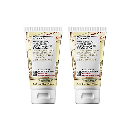 Korres Almond & Calendula Hand Cream Duo 75ml