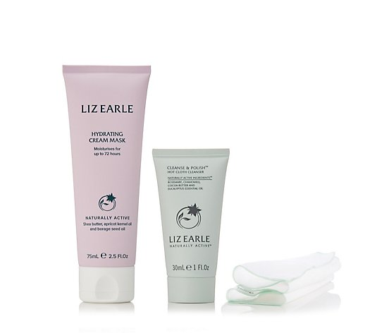 Liz Earle Hydrating Cream Mask 75ml & Cleanse & Polish 30ml Duo