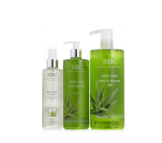 SBC 3 Piece Aloe Vera Cooling Collection