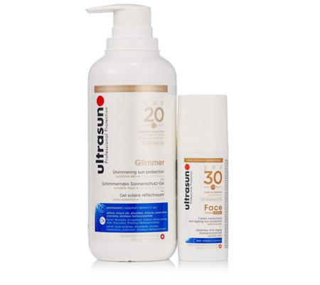 Ultrasun Sun Protection Supersize Glimmer & Glow Duo
