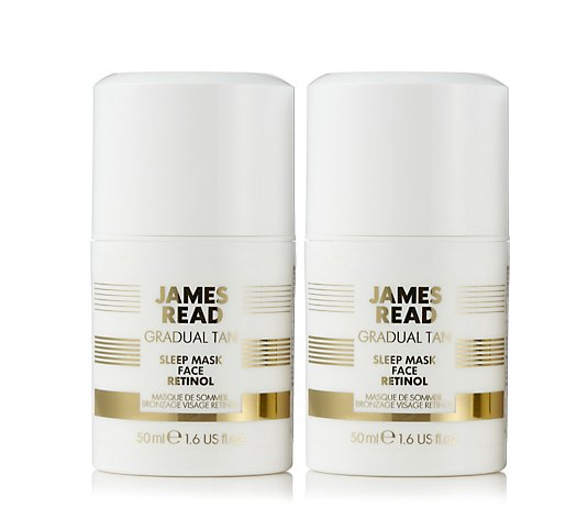James Read Sleep Mask Tan Face Advance Retinol 50ml Duo