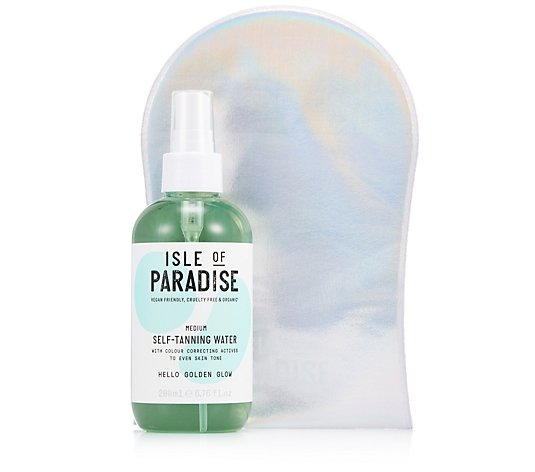 Isle of Paradise Self Tanning Water 200ml & Mitt