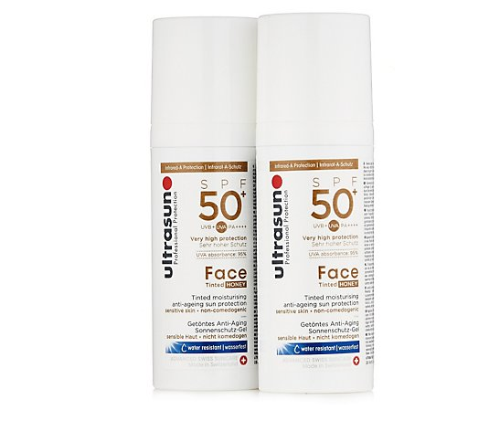 Ultrasun Sun Protection Tinted Face SPF 50+ 50ml Duo