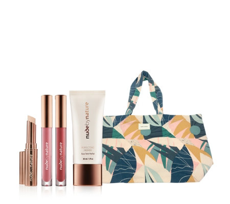 Nude by Nature 4 Piece Complexion Essentials with Bag