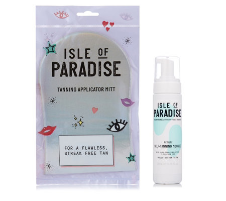 Isle of Paradise Self Tanning Mousse 200ml & Mitt