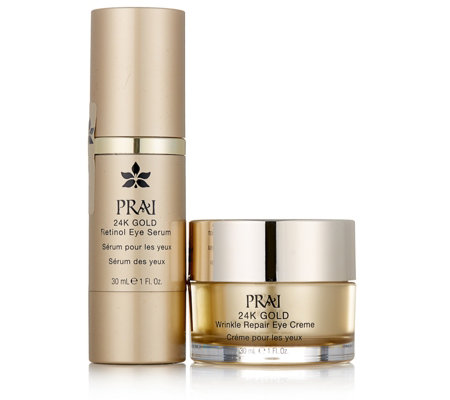 Prai 2 Piece 24K Gold Wrinkle Repair Eye Collection