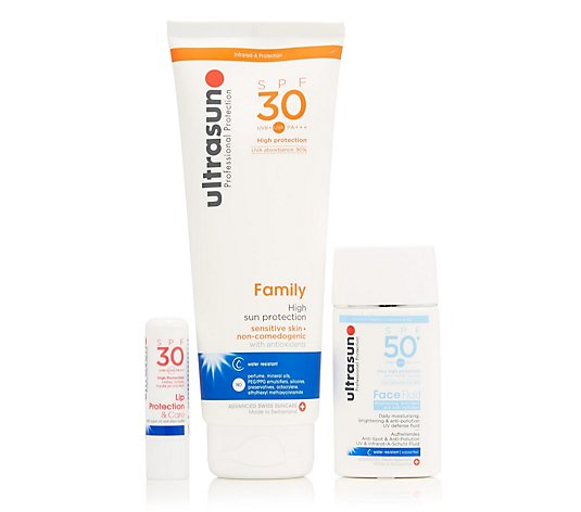 Ultrasun Sun Protection 3 Piece Face & Body Collection