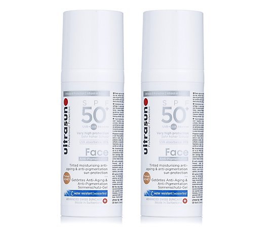 Ultrasun Sun Protection Tinted Anti- Pigmentation Face SPF 50+ 50ml Duo