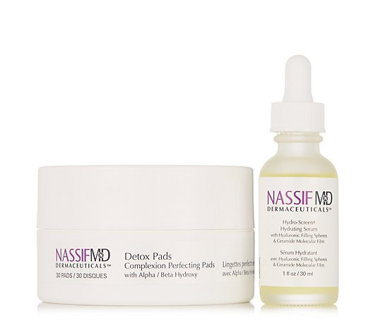 Nassif MD Detox Pads and Hydro-Screen Serum Collection