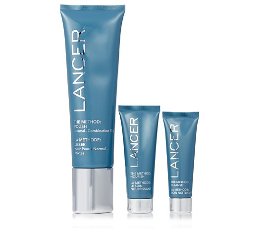 Lancer Skincare The Method Polish & Glow 3 Step Anti Ageing Collection