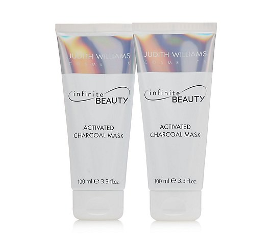 Judith Williams Infinite Beauty Charcoal Mask 100ml Duo With Silver Bag