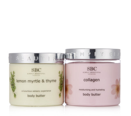 SBC Collagen and Lemon Myrtle & Thyme Body Butter Duo 450ml
