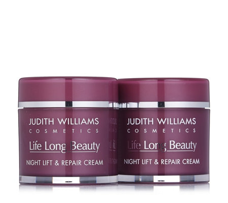 Judith Williams Life Long Beauty Lift & Repair Night Cream 80ml Duo
