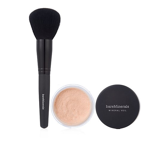 Bareminerals Illuminating Mineral Veil 9g & Brush
