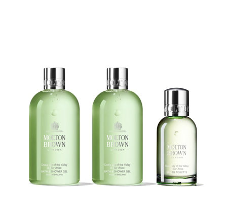 Molton Brown Dewy Lily of the Valley & Star Anise Pure Body & Fragrance Trio