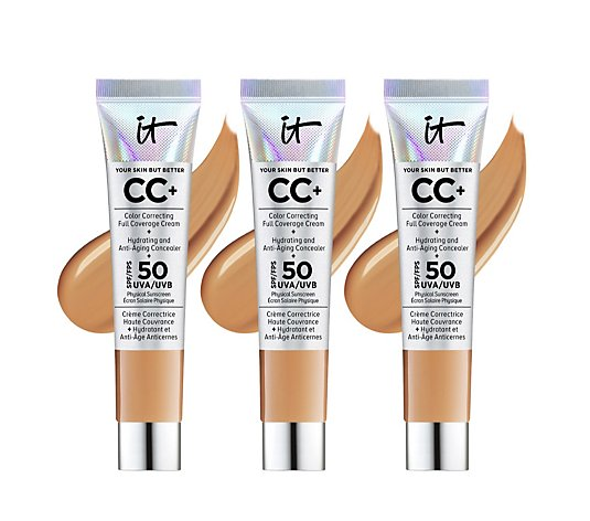 IT Cosmetics Full Coverage SPF 50 CC+ Cream 12ml Trio