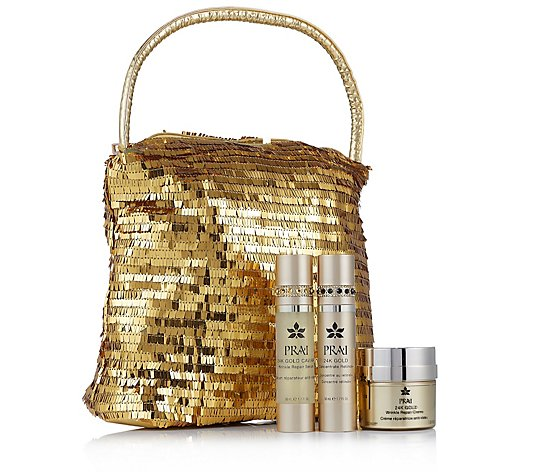 Prai 3 Piece 24k Gold Wrinkle Repair Collection